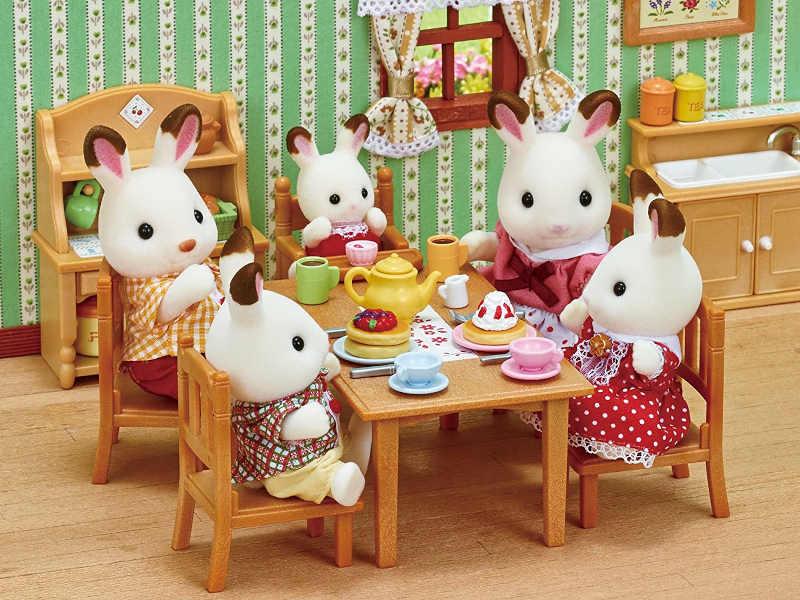 Familia Conejo Chocolate mesa
