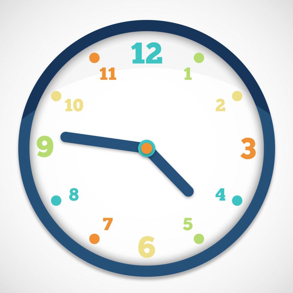 Reloj color
