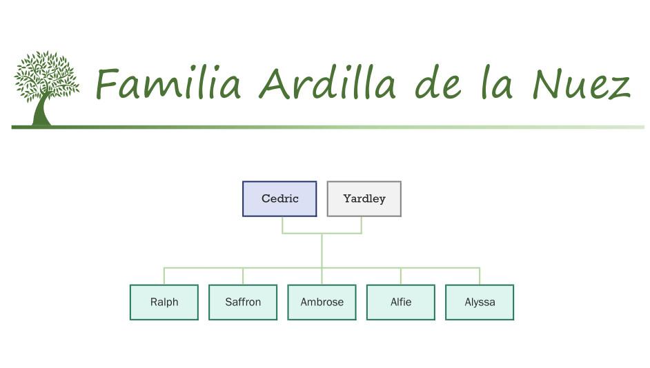 Familia Ardilla de la Nuez catálogo Sylvanian Families