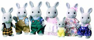 Familia Conejo Gris