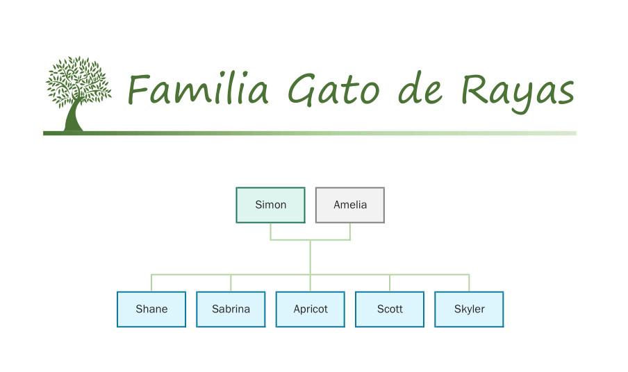 Familia Gato de Rayas catálogo Sylvanian Families