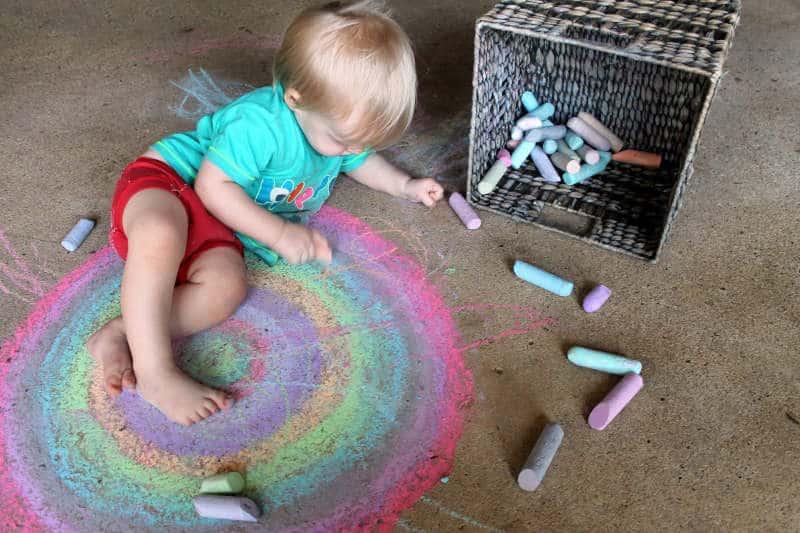 Arco iris para practicar los colores
