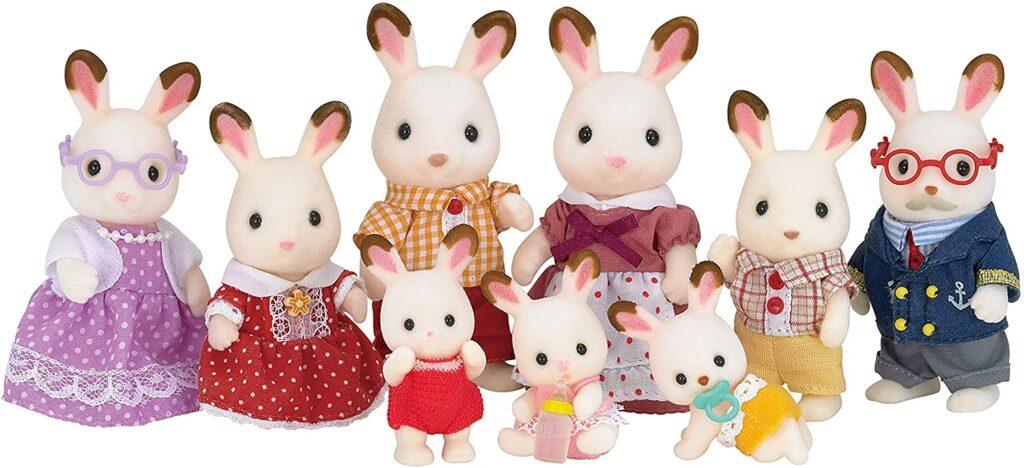 Familia Conejo Chocolate