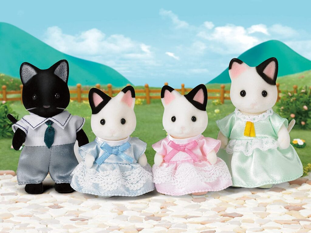 Familia Gato Tuxedo Sylvanian