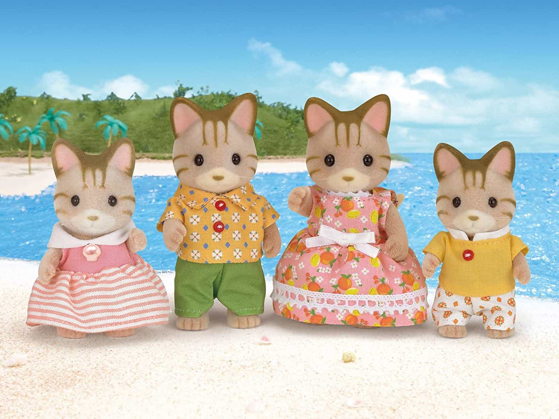 Familia Gato de Rayas Sylvanian