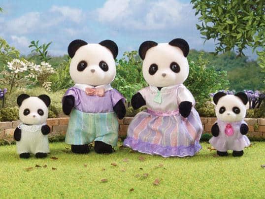 Familia Pookie Panda Sylvanian