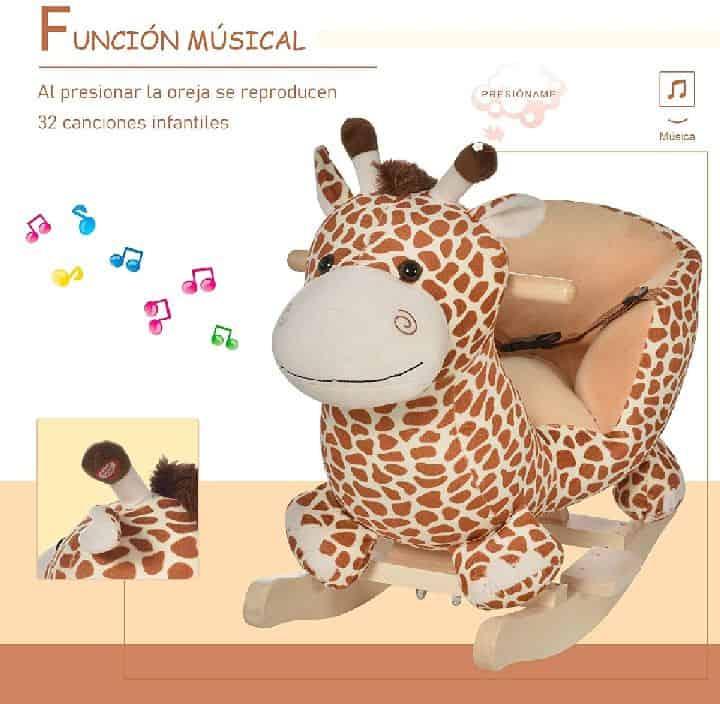 HOMCOM - Balancín de jirafa